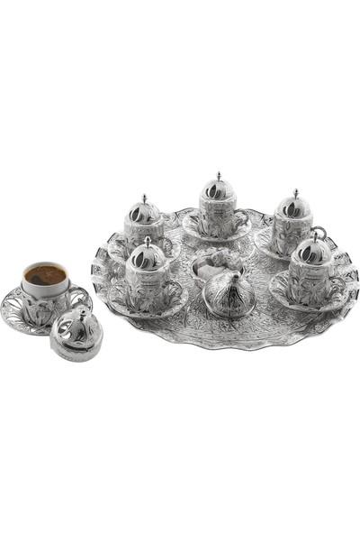 Oryant Defne Yuvarlak 6'lı Kahve Seti Kutulu