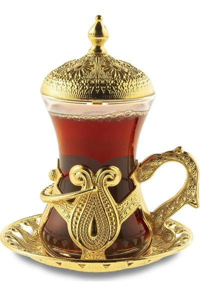Oryant Kuşaklı 6'lı Çay Seti Kutulu
