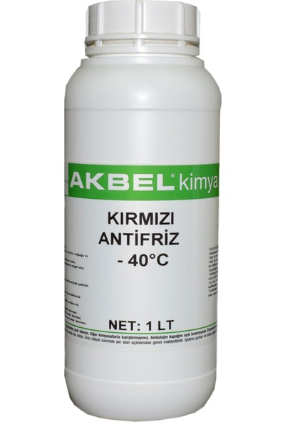 Akbel Kırmızı Antifriz 1 Lt - 40°C