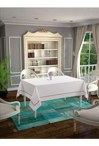 LA8120 Daisy Beyaz Masa Örtüsü 140x180 cm