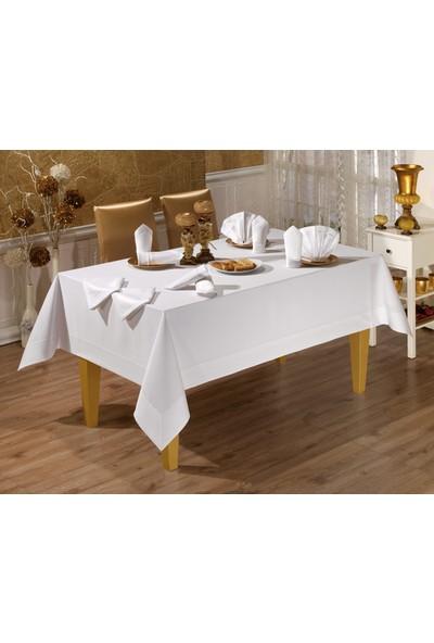 LA8136 Honey Beyaz Masa Örtüsü