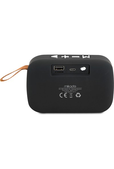 Mikado Md-25Bt Enjoy N2 Bluetooth 3W Tf/Usb/Fm Destekli Speaker - Siyah