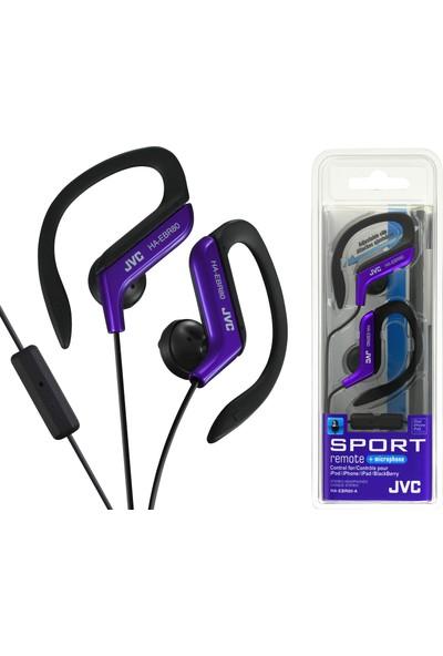 Jvc HAE-BR80AK Kulak İçi Spor Tipi ve Mikrofonlu Mor Renk Kulaklık
