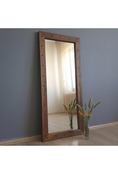 Neostill-Doğal Ahşap Dekoratif Salon Ofis Boy Ayna 50X110 Cv