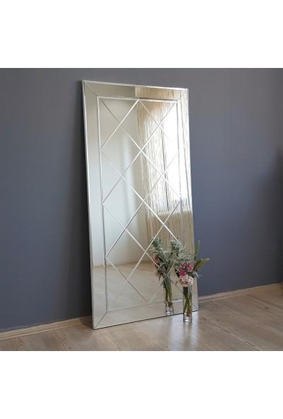 Neostill-Dekoratif Baklava Desenli Duvar Salon Boy Ayna A306-D