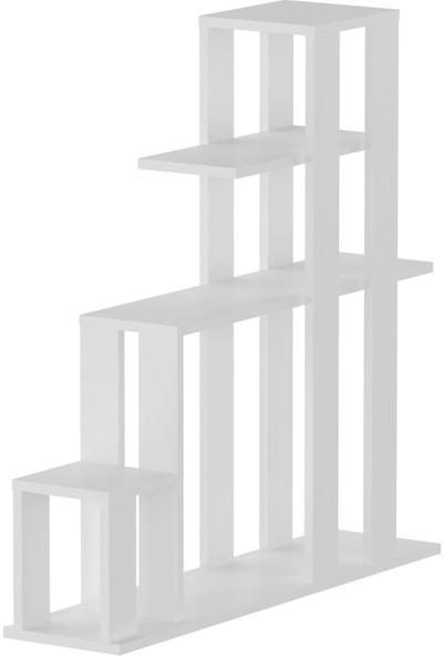 Sanal Mobilya Decoma Çi̇çekli̇k Mat Beyaz