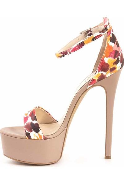 Rouge Deri Topuklu Kadın Abiye Ayakkabı 0505