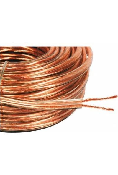 Hıs Kablo 2 X 0,75 Şefaf Hoperlör Hıs Kablosu 30 Mt