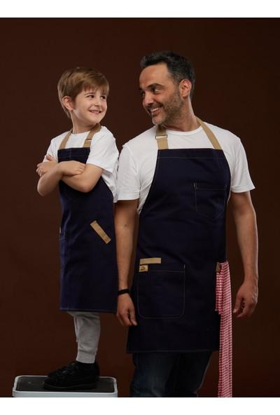 Arda'Nın Mutfağı Şef Önlüğü Baba Çocuk Lacivert