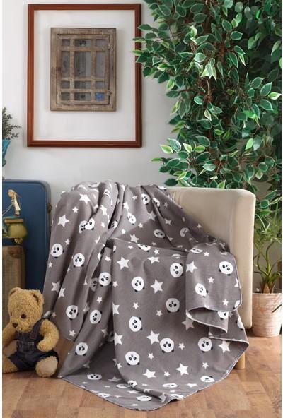 Lady Moda Home %100 Organik Pamuklu Bebek Battaniyesi Panda