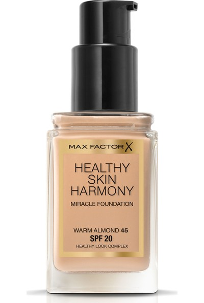 Max Factor Healthy Skin Harmony Miracle Foundation 45 Warm Almond