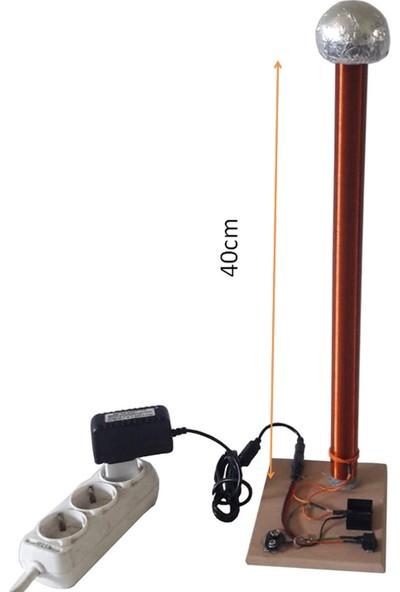 Ece Tesla Bobini Deney Seti Montajlı Soğutuculu Dc Adaptörlü 40Cm