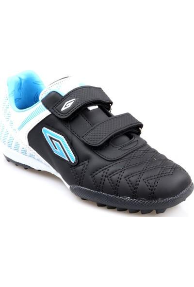 Dugana Erkek Çocuk (31-35) Siyah-Beyaz Futbol Ayakkabı