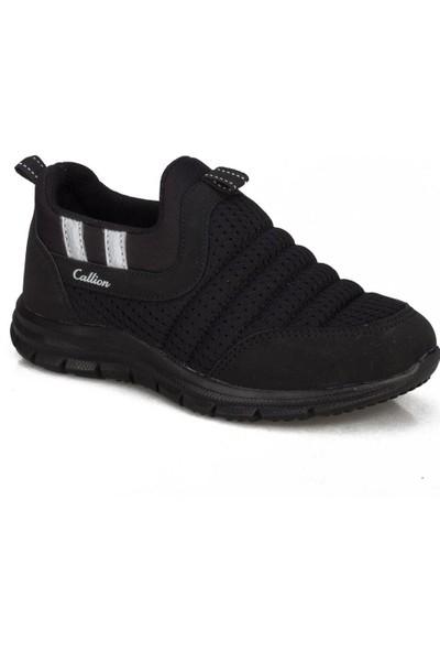 Callion Erkek Çocuk (31-35) Siyah Bağcıksız Günlük Spor Ayakkabı