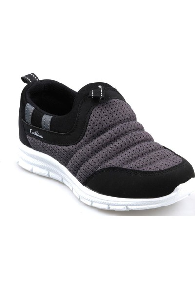 Callion Erkek Çocuk (31-35) Siyah-Gri Bağcıksız Günlük Spor Ayakkabı