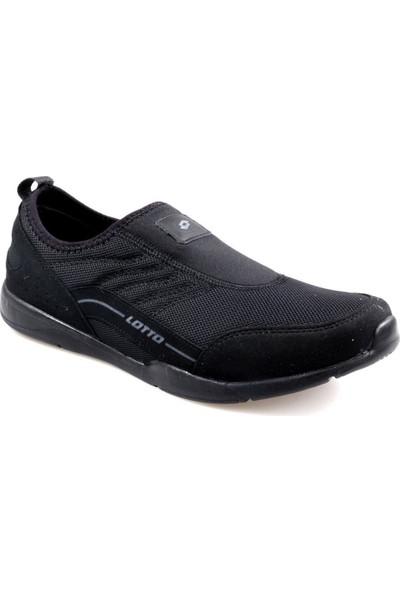 Lotto Aden Bağcıksız Siyah Günlük Erkek Spor Ayakkabı