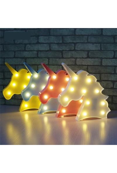 Orijinaldukkan Unicorn Led Işıklı Masa Duvar Gece Lambası