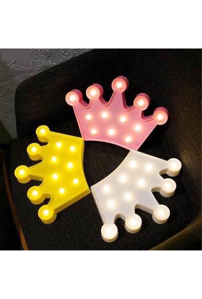 Orijinaldukkan Kral Tacı Led Işıklı Masa Duvar Gece Lambası