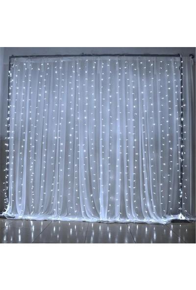 Orijinaldukkan 3 x 3 Metre Perde Saçaklı Led Işıklar Animasyonlu