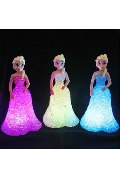 Dizayn Hediye Gece Lambası Elsa Karlar Ülkesi Hediyelik