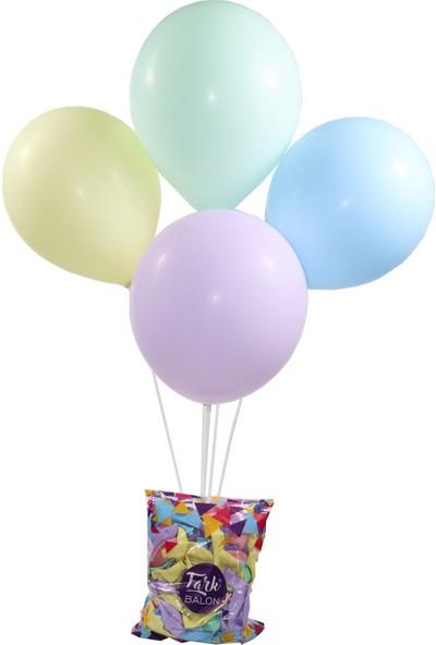Makaron Balon 100'lü Paket 5 Renk + 7li Balon Standı