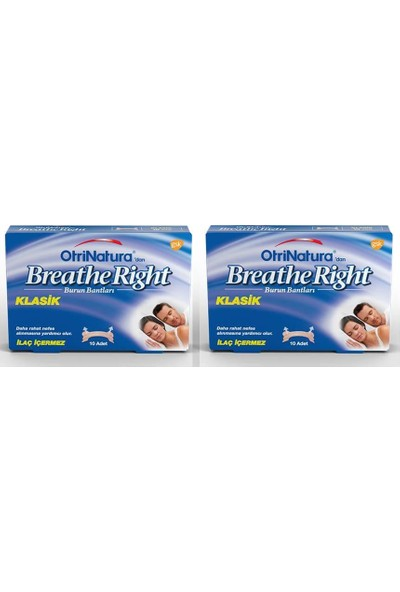 Otrinatura Breathe Right Klasik Burun Bandı 2 Kutu