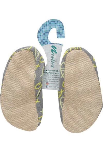 Newborn Naq4010 Aqua Socks Finny Açık Turkuaz Unisex Çocuk Terlik