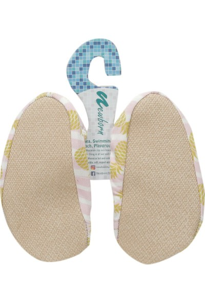 Newborn Naq4010 Aqua Socks Gold A Açık Pembe Çok Renkli Unisex Çocuk Terlik