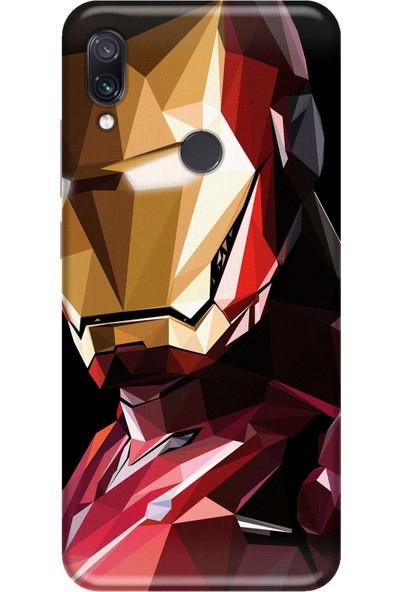 Svart Case Xiaomi Redmi Note 7 Iron Silikon Telefon Kılıfı