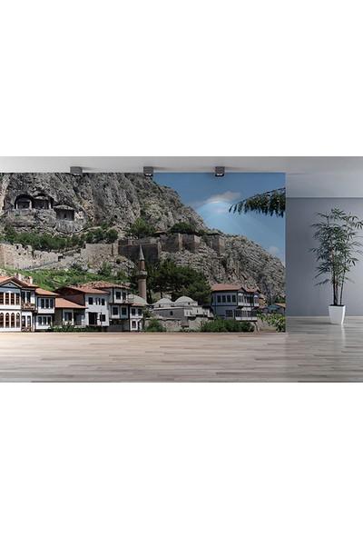 Moda Duvar Amasya Evleri Duvar Kağıdı Tek Parça Kanvas 200 x 260 cm MNZ-130017115