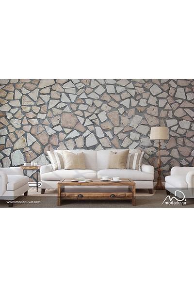 Moda Duvar Taş Desenli Duvar Kağıdı 200 x 260 cm Tek Parça Kanvas Baskı TD-190017010