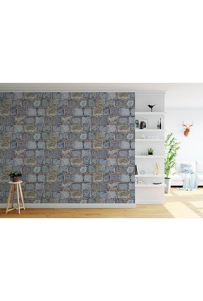 Moda Duvar Taş Desenli Duvar Kağıdı 200 x 260 cm Tek Parça Kanvas Baskı TD-190017099