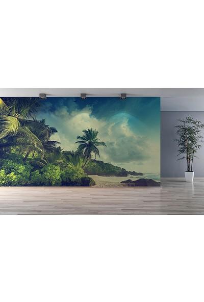 Moda Duvar Palmiyeli Patika Yol Duvar Kağıdı Tek Parça Kanvas 200 x 260 cm MNZ-130017009