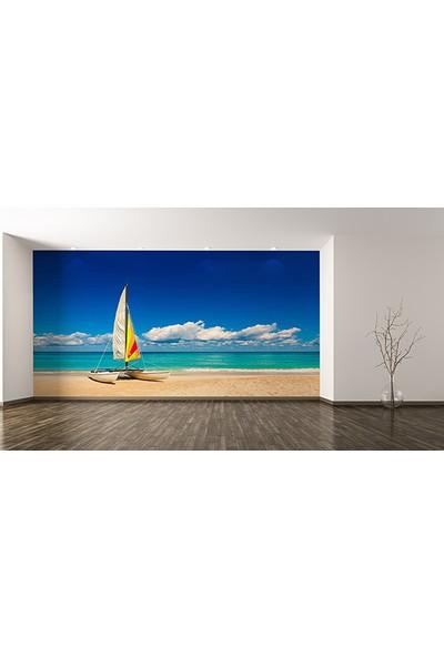 Moda Duvar Rüzgar Sörfü ve Durgun Deniz Duvar Kağıdı Tek Parça Kanvas 200 x 260 cm ARC-TD-10217003