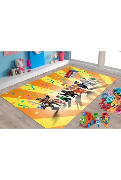 Veronya Lego Desenli Kaymaz Taban Çocuk Odası Halısı 60x100
