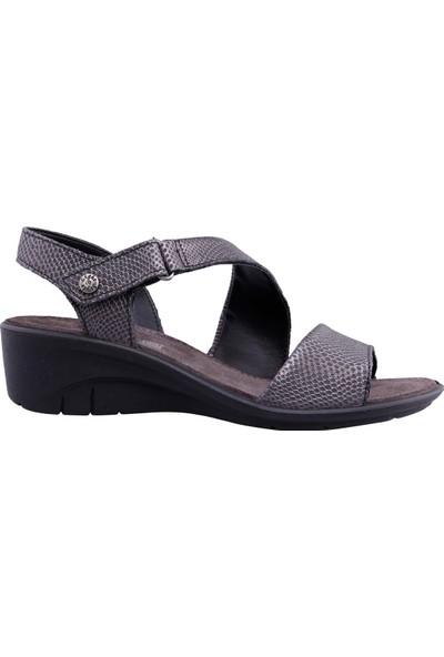 Imac Kadın Süet Baskı Deri Sandalet