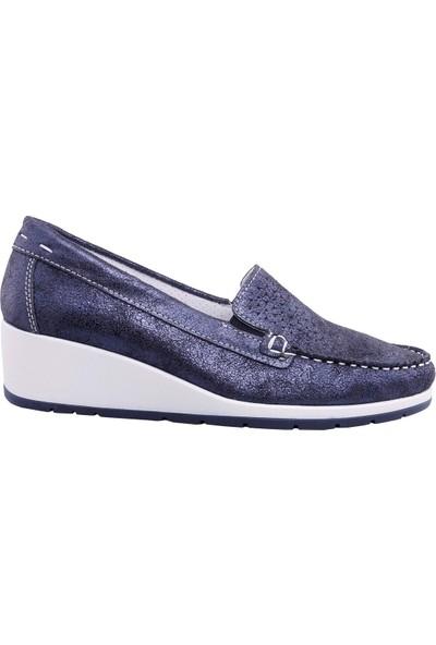Imac Kadın Süet Zımbalı Deri Ayakkabı