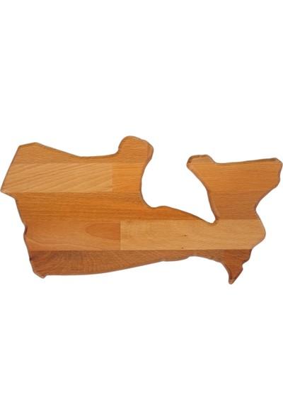 Goodbutwood Maple | Kanada Şeklinde Doğal Ahşap Et, Peynir Sunum Tahtası
