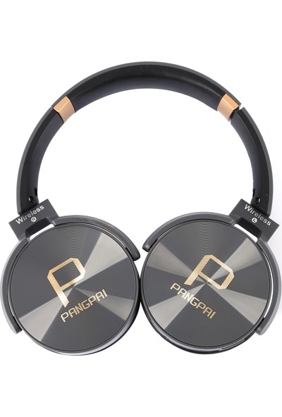 Pangpai Bluetoothlu Mi̇krofonlu Kulaklık Gri