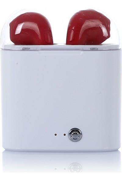 Tws i7 Bluetooth Kulaklık Kırmızı