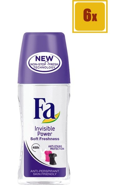 Fa Invisible Power Roll-On 50 ml 6'lı Set