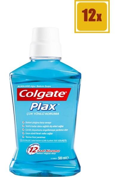 Colgate Plax Ağız Suyu Mavi 500 ml 12'li Set