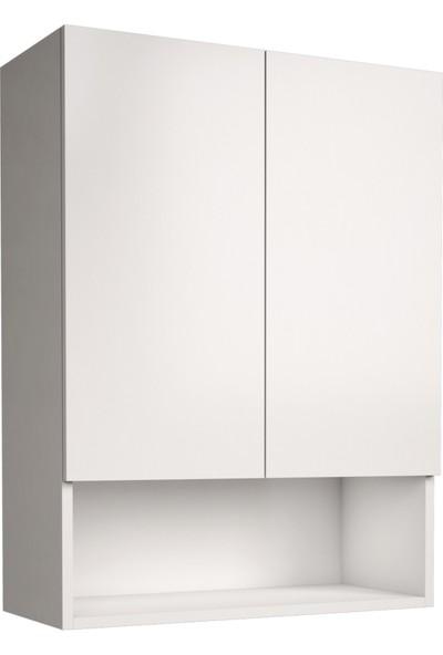 Banos Cu3 Çok Amaçlı Çamaşır Makinesi Üst Banyo Dolabı - Beyaz