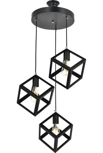 Correx Aydınlatma Hexagon 3 Lü Sarkıt