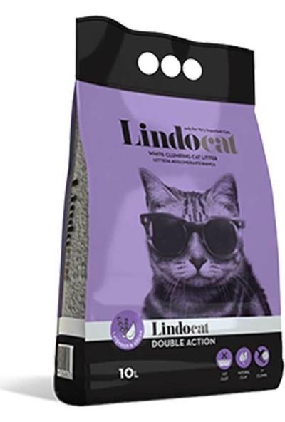 Lindo Cat Bentonit Topaklanan Argan Yağı Ve Lavanta Kokulu İnce Taneli Kedi Kumu 10 L