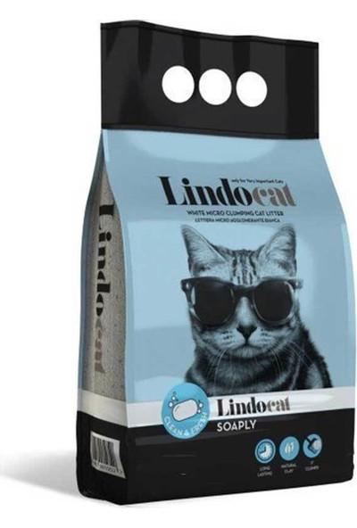 Lindo Cat Bentonit Topaklanan Marsilya Sabunu Kokulu İnce Taneli Kedi Kumu 5 L