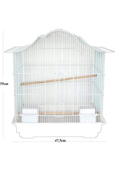 Dayang Dekoratif Şekilli Sultan Papağanı Kafes 47.5 X 36 X 55Cm
