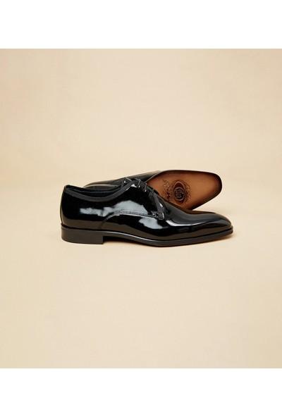 Çift Geyik Karaca Erkek Seremoni Ayakkabı Siyah