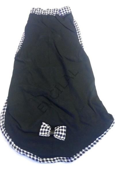 Pets Köpek Penye Sırtı Fiyonklu Kıyafet Siyah No:6