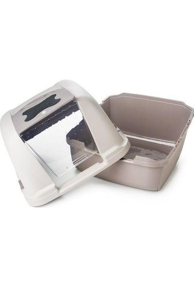 Hagen Catit 50696 Jumbo Kedi Tuvalet Kabı Beyaz 57X46X43Cm